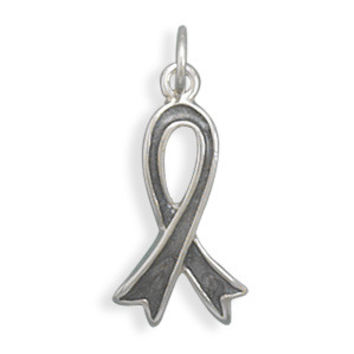 Grey Awareness Ribbon Charm