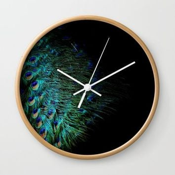 Peacock Details Wall Clock by ARTbyJWP