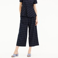 Wide-leg pant in windowpane print : Women Relaxed Crop | J.Crew