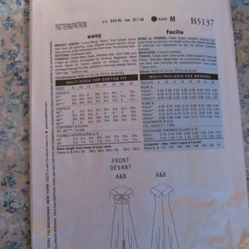 Uncut Butterick Sewing Pattern, 5137! Sizes 8-10-12-14, Retro 1940's Style, Prom Dresses/Formal/Wedding Gown/Bridal/Bridesmaid