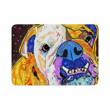 "Rebecca Fisher ""Tucker"" Bulldog Memory Foam Bath Mat"
