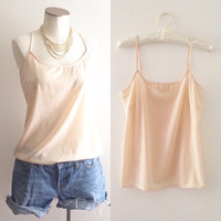 Small Nylon Cami | Peachy Beige Cami | Hold Me Closer Tiny Dancer