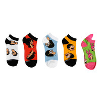 Bob's Burgers No-Show Socks 5 Pair