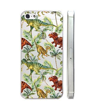 Dinosaur Slim Iphone 5 5S Case, Clear Transparent Iphone 5 5S Hard Cover Case For Apple Iphone 5/5S -Emerishop