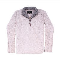 The Original Frosty Tipped Pile 1/2 Zip Pullover in Oatmeal by True Grit - FINAL SALE