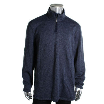 Club Room Mens Marled Funnel Neck 1/2 Zip Sweater