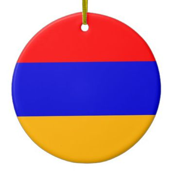 Ornament with flag of Armenia