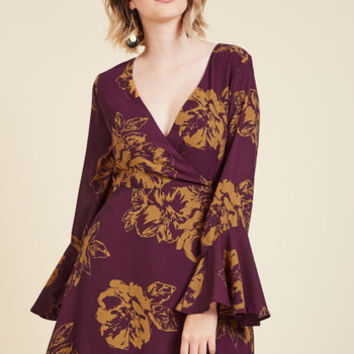 Impressing Flowers A-Line Dress | Mod Retro Vintage Dresses | ModCloth.com