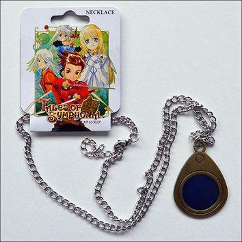 Tales of Symphonia Lloyd Ex-Sphere Metal Chain Pendant Necklace Costume Cosplay