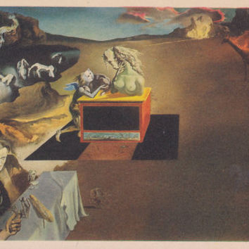"Vintage US Postcard -- Salvador Dali ""Invasions of the Monsters"" -- 1970?"