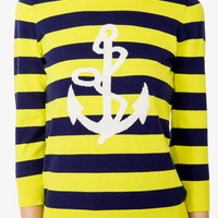 Striped Anchor and Rope Pullover