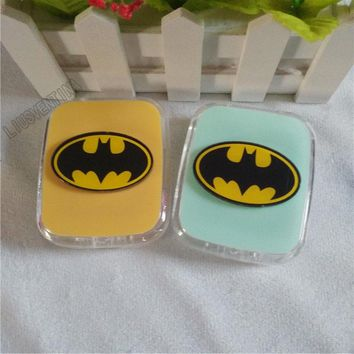 LIUSVENTINA DIY acrylic cute batman contact lens case for eyes contact lenses box for glasses