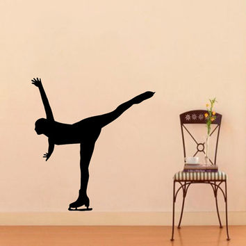 Wall Vinyl Decal Sticker  Figure Skater Girl Sport Art Design Room Nice Picture Decor Hall Wall Chu428