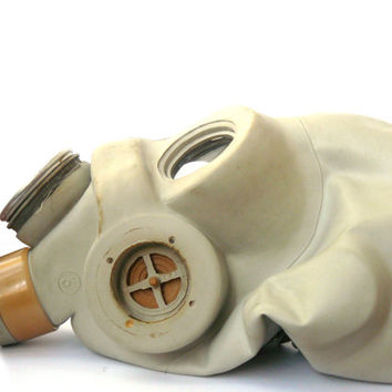 Rare Soviet Military rubber Gas Mask PMG, adult size 1, gas mask S-M, steampunk mask, cyber mask, respirator, Grey mask SMG, latex Mask