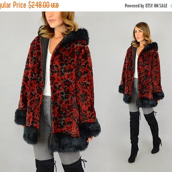 SALE 60's Tapestry Hooded Coat