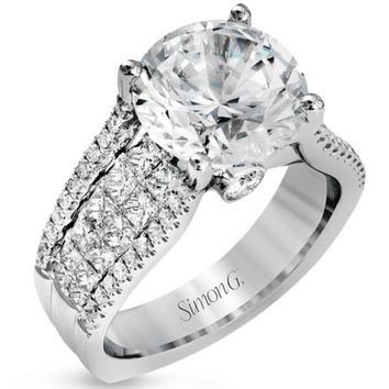 """Simon G. Large Center """"Cathedral Style"""" Diamond Engagement Ring"""