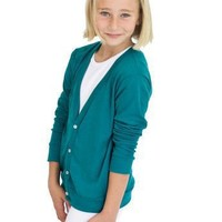 American Apparel Youth Tri-Blend Rib Cardigan