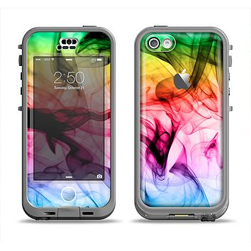 The Neon Glowing Fumes Apple iPhone 5c LifeProof Nuud Case Skin Set