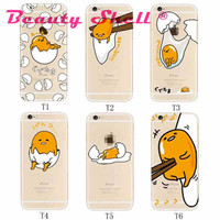 10pcs New Loveable Cartoon Gudetama Case Cover For iphone 7 7Plus Ultrathin TPU Material Gudetama Egg Pattern Mobile Phone Shell