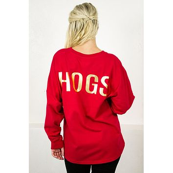 Gold Hogs Long Sleeve Tee
