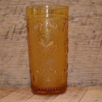 Vintage Amber Juice Glass, Amber Glass, Vintage Juice Glass