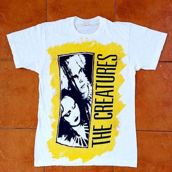 ON SALE Vintage 80's THE Creatures Siouxsie and the Banshees Gothic Punk Shoegaze Tour 1980's Concert T shirt
