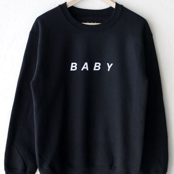 Baby Oversized Sweatshirt - Black