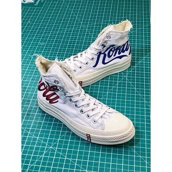 Kith X Coca-cola X Converse Chuck Taylor All Star 1970s Mid White Sneakers
