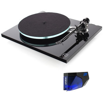 Rega: Planar 3 Turntable - Black + Ortofon 2M Blue Bundle
