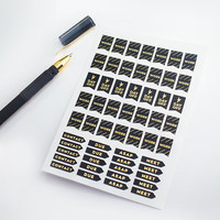 Mini Metallic Work Flags  - Rose Gold, Gold Silver Foil Stickers - Planner & Scrapbook