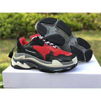 Balenciaga Triple S Trainers Red Bulls Sneakers 36-44