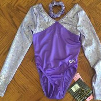US Championships GK Purple Bling Competition Leotard,  New with Tags Child Large