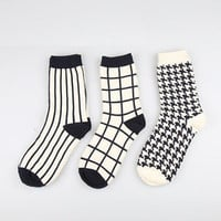 3 Pairs Japanese Harajuku Fashion Stripes Surf Bird Lattice Lady Hoseiry Socks