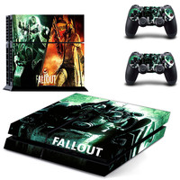 Fallout design skin for ps4 decal sticker console & controllers