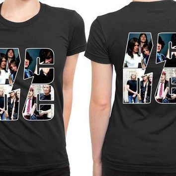 ESBH9S ACDC Best Moments Photo Clip On 2 Sided Womens T Shirt