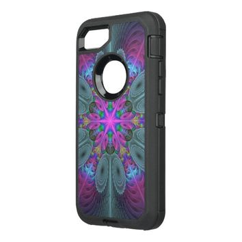 Mandala from the Center Colorful Fractal Art OtterBox Defender iPhone 7 Case