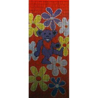 Grateful Dead - Purple Bear Bamboo Door Curtain