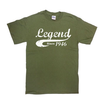 Legend Since 1946 T Shirt 70th Birthday Gift Birthday Shirt 70 Years Old TShirt Custom Shirt Personalize Funny Mens Ladies Unisex Tee - SA42