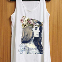 Lana Del Rey Tatto tank top for womens and mens heppy feed