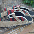 Sydney Womens Embroidered Shoes in Ethnic Naga Textiles