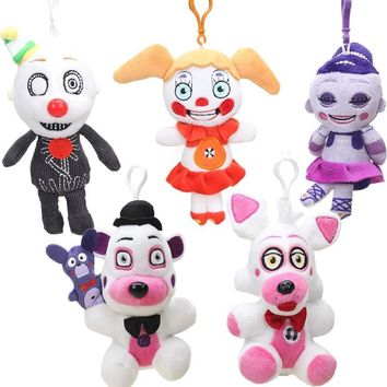 15cm 15pcs Funtime Foxy Freddy Fazbear Plush Keychain Sister Location Figure Toy  At  Collectible Dolls