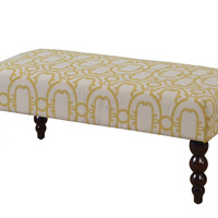 Claire Bench - Gold Geo