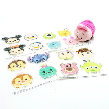 Disney Tsum Tsum Stickers Kawaii Disney Characters Princess Sticker Decoration Gift Card Seal Scrapbook Album Decals