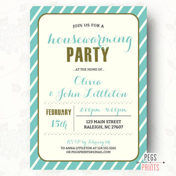 Modern Housewarming Invitation - Colorful Housewarming Party Invitation (Printable) Modern Housewarming Party Invitation