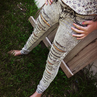 Grey Ripped Super Skinny Jeans