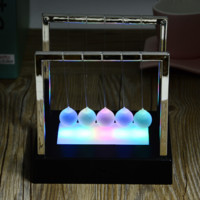 Colorful LED Newton's Cradle, Balance Balls, Creative Great Gifts