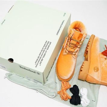 Virgil Abloh OFF-WHITE x Timberland 6 Inch Velvet Hiking Boots OWIA073E17478088