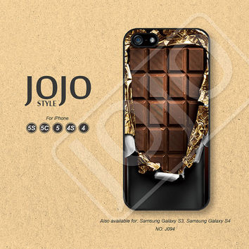 iPhone 5 Case, iPhone 5c Case, iPhone 4 Case, iPhone 5s Case, iPhone 4s Case, chocolate, Phone Cases, Phone Covers - J094
