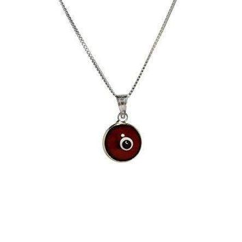 MIZZE Made for Luck Silver Evil Eye Protection Necklace with RED Evil Eye Charm - 925 Sterling Silver 19 Inch Box Chain