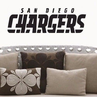 San Diego Chargers NFL Team Superbowl Wall Decal Gm0740 FRST